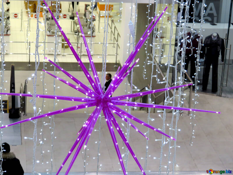 Christmas decorations in shopping center №16255