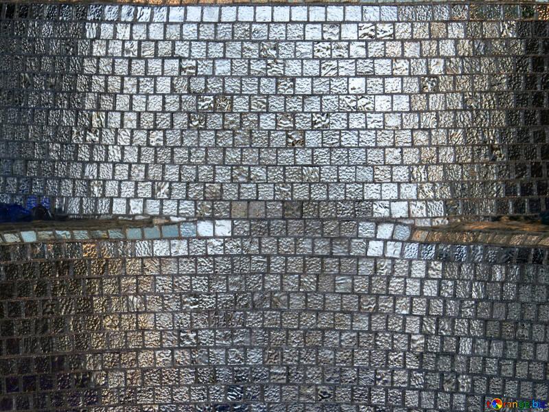 Texture of glass mosaic tiles №16589