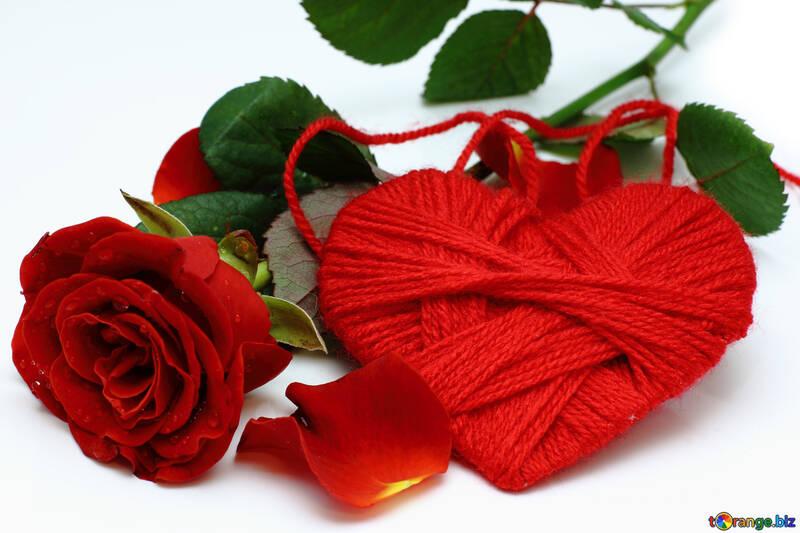 Herz mit Blume №16856
