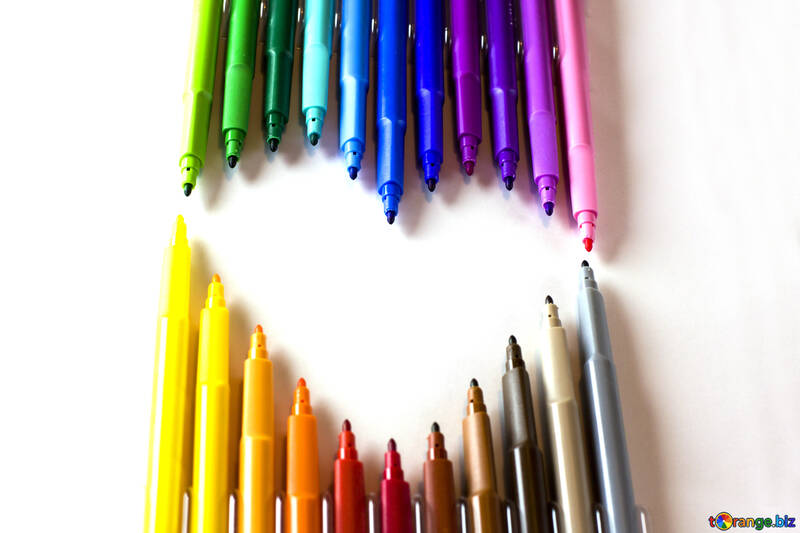 Markers in the shape of heart №16811