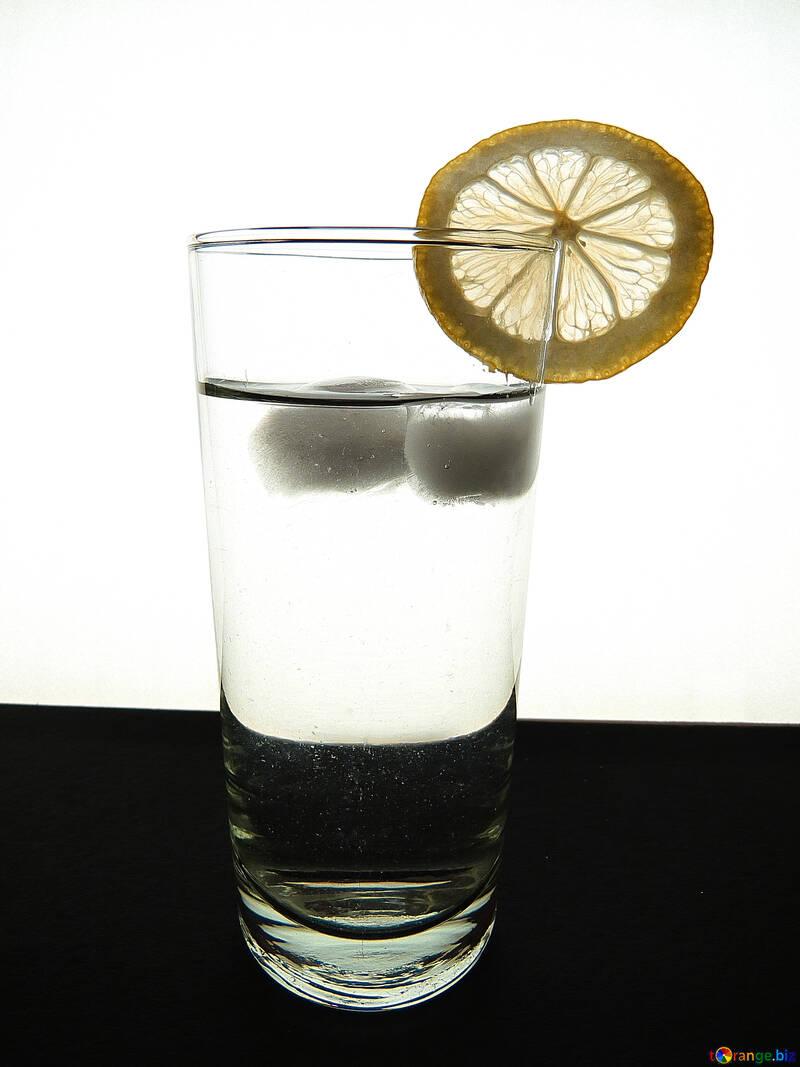 Glass with lemon №16130