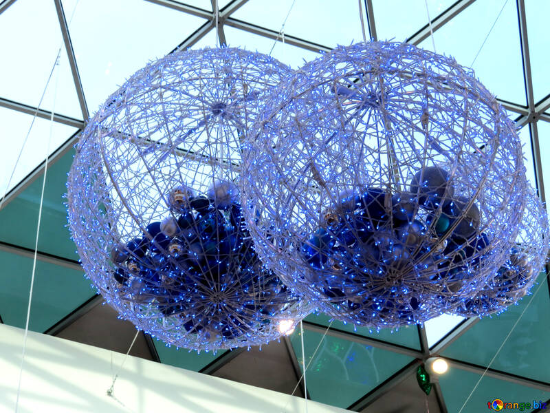 Цветные декоративные шары №16286