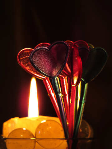 Hearts, candles and love №17477