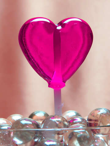 Candy in the shape of heart