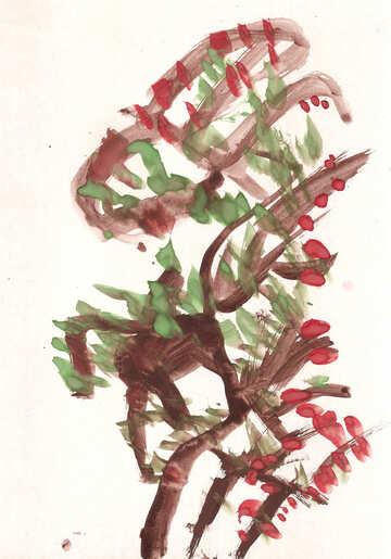 Applewood watercolor  №17240