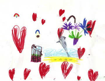 Painting hearts №17282