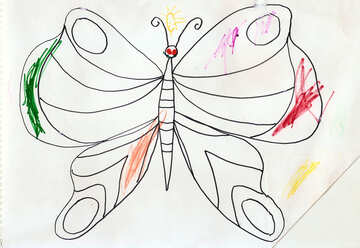 Children`s coloring butterfly №17263