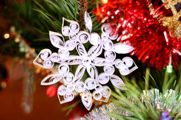 Christmas snowflake from paper №17978
