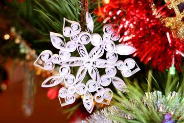 Weihnachten Schneeflocken aus Papier №17978