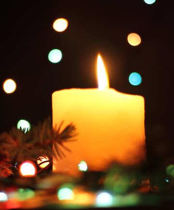 Christmas candle №17932