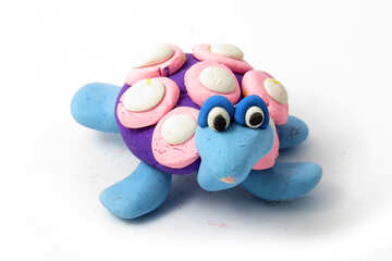 Crafts from clay turtle №17293