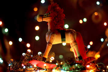 Christmas horse wallpaper on desktop №17936