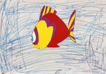 Applique fish №17278