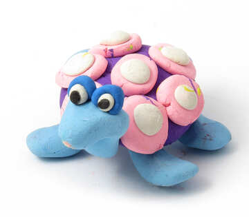 Turtle molded from clay №17291