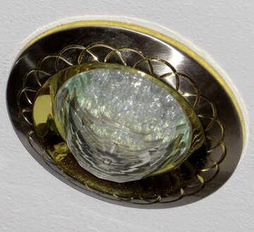 LED light bulb in the ceiling №17715