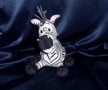 Toy zebra №17227