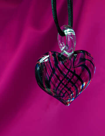 Dekoration Herz von Farbglas №17501
