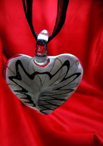 Herz aus Glas gold №17510