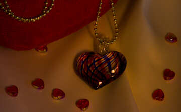 Necklace heart №17553