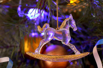 Christmas tree Toy horse №17964