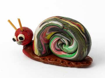 Plasticine snail №17309