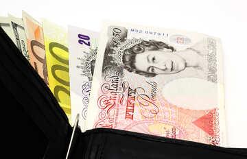 Кошелек с деньгами №17179