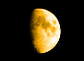 Yellow moon №17654