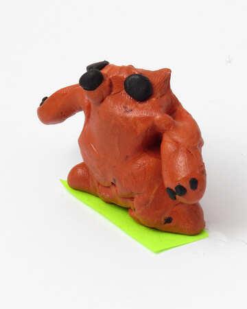 Plasticine bear №17360