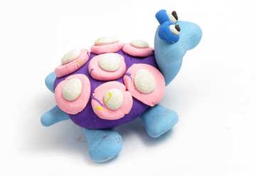 Plasticine turtle №17290
