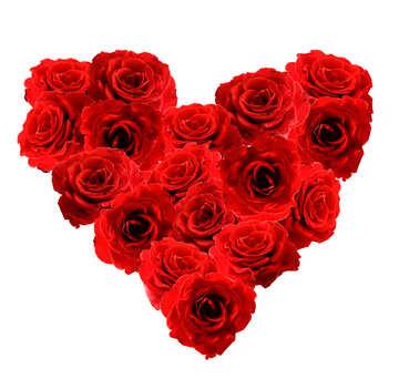 Herz aus Rosen №17074