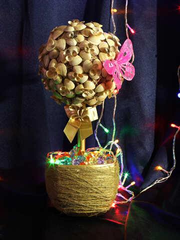 Christmas tree with seashells №17843