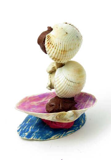 Sailboat made of shells №17326