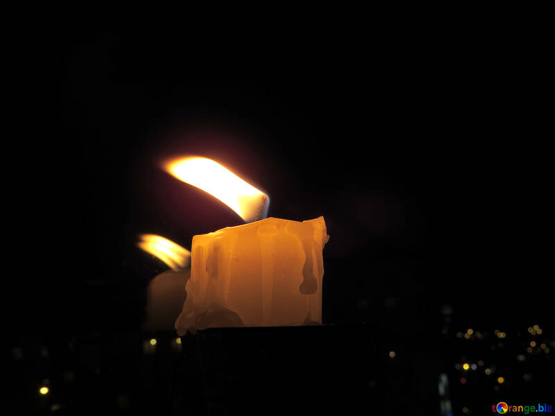 Candle over the city №17421
