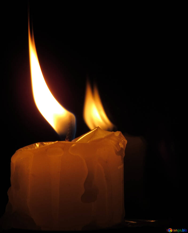 Candle with reflection №17407