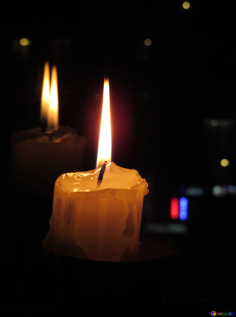 The reflection of the candles in the window №17396