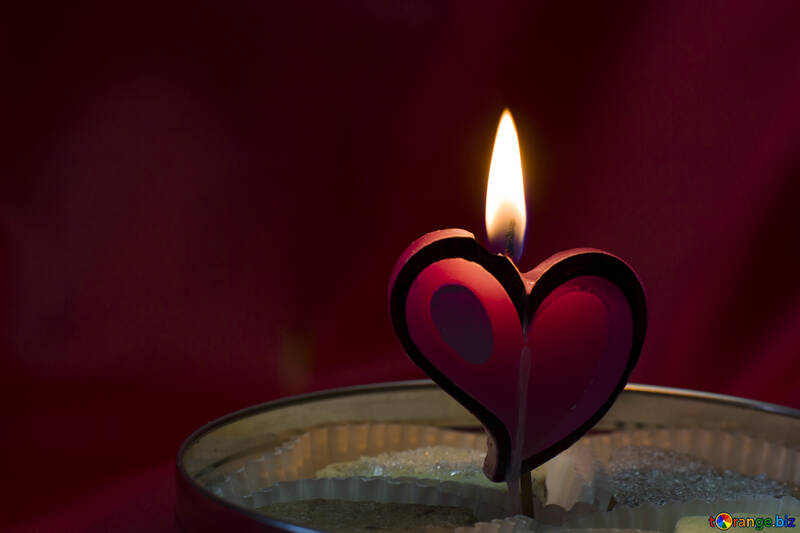 Candle in the form of heart №17606