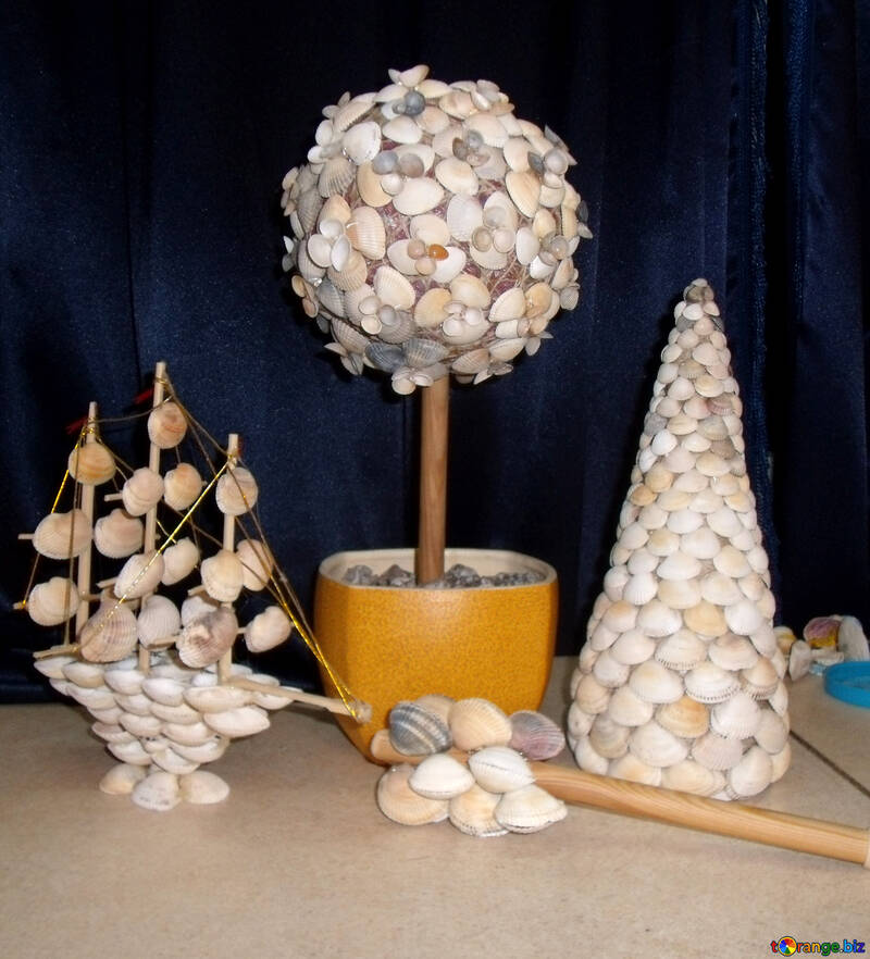 Crafts made from seashells №17883
