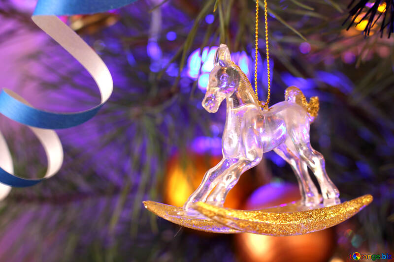 Horse Christmas tree toy №17965