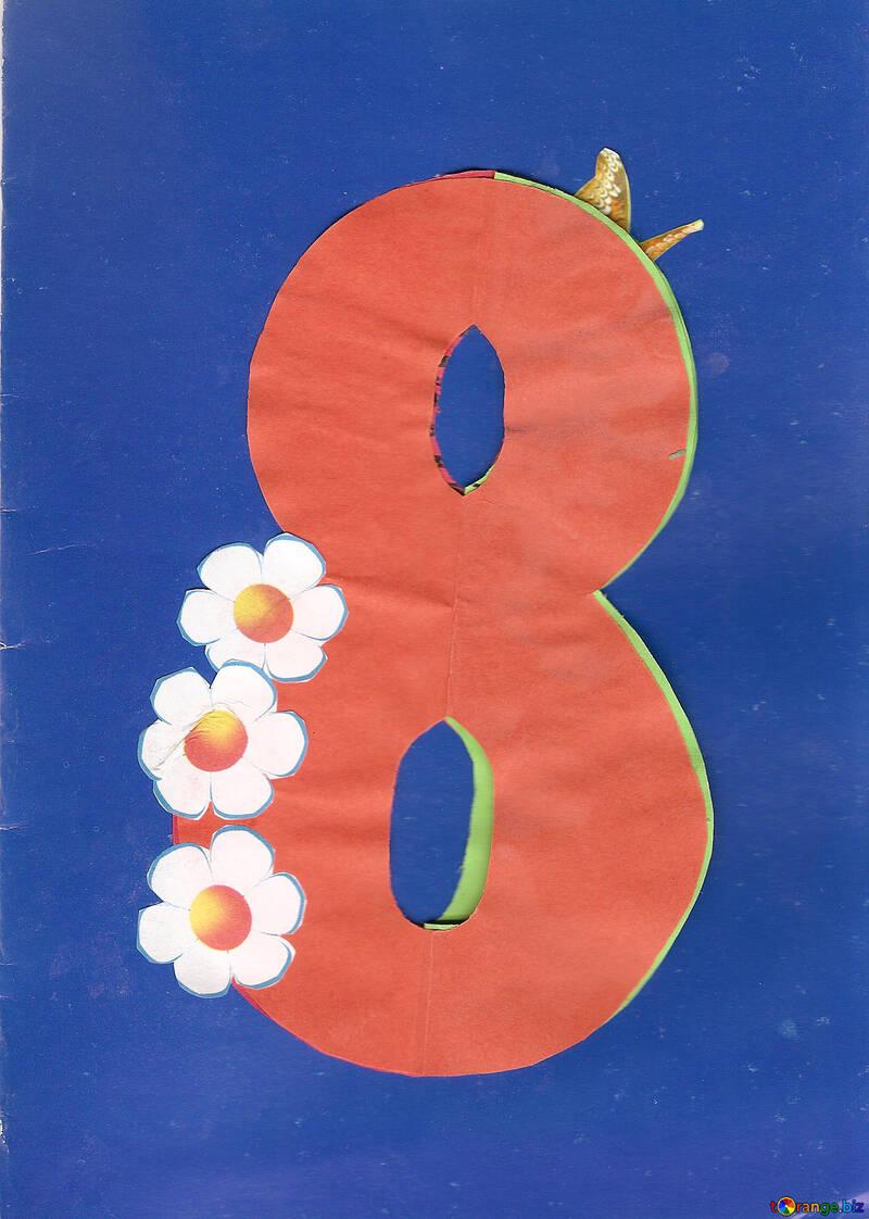 Card on March 8 children applique №17252