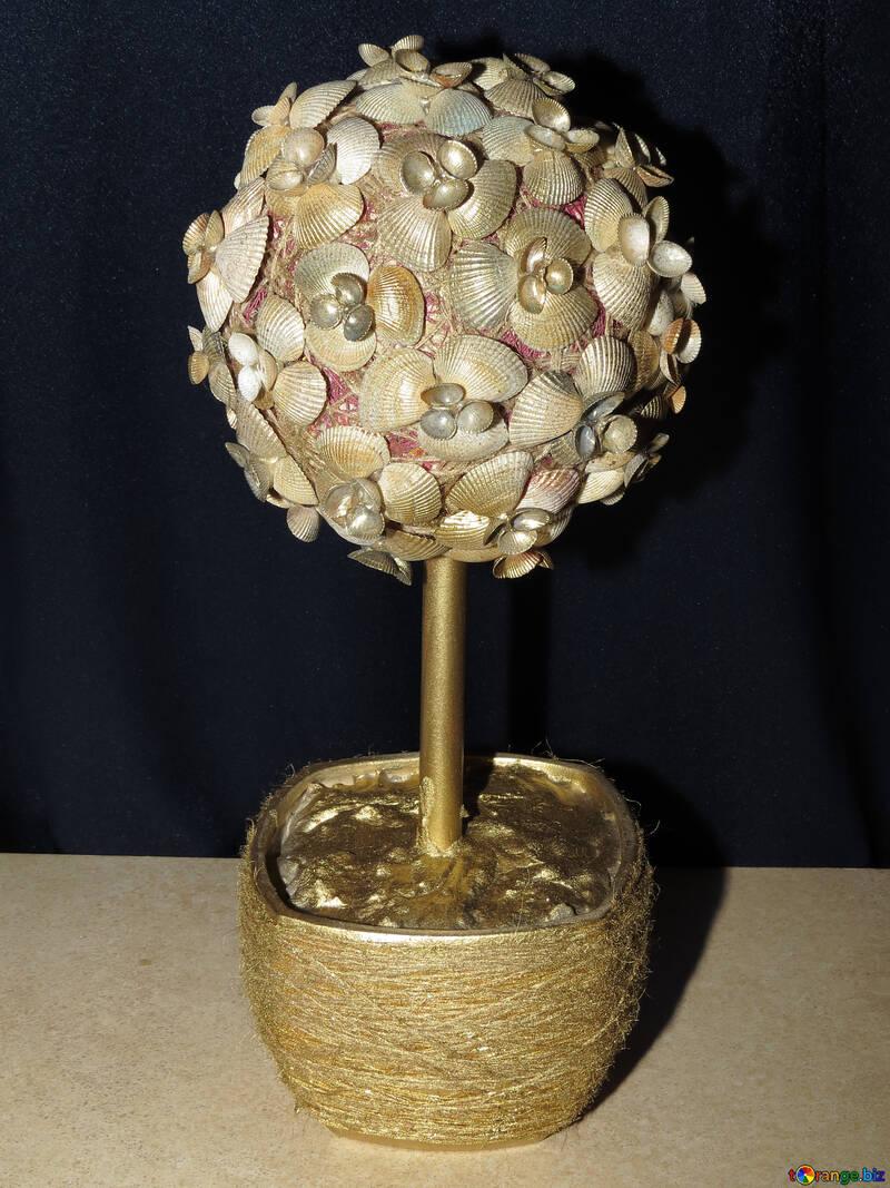 Дерево из ракушек №17881