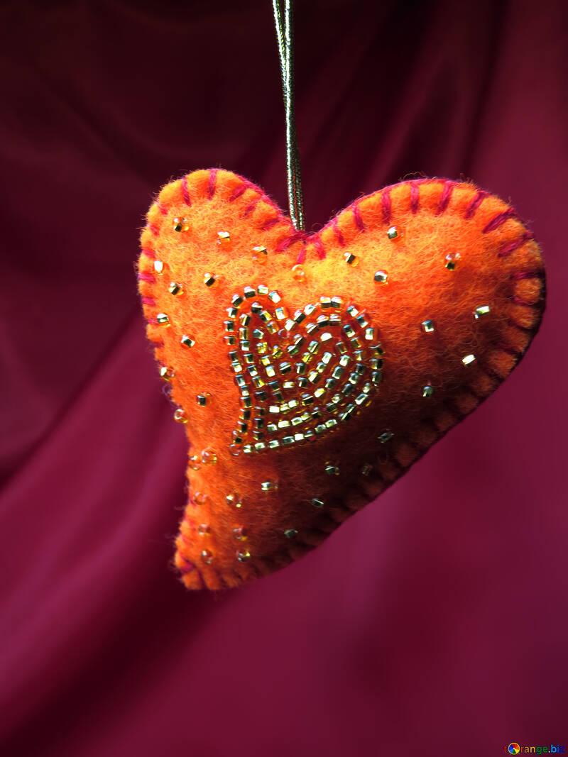 Valentine handmade gift with beads №17496