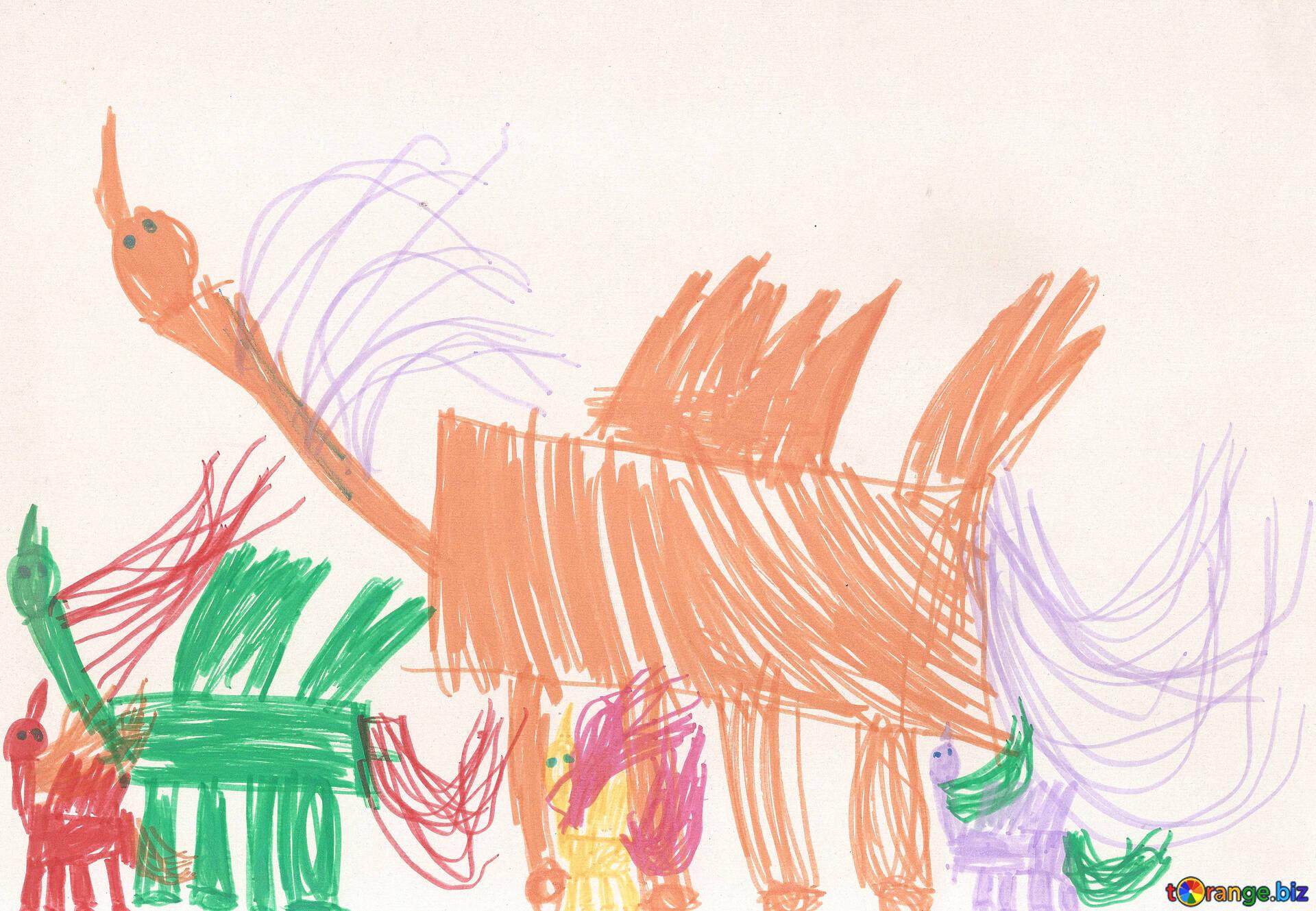 Disegno Di Un Cavallo Per Bambini Una Mandria Di Cavalli Alati