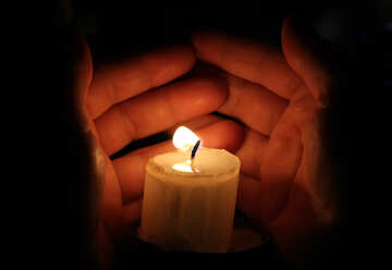 Candle hand fingers №18116