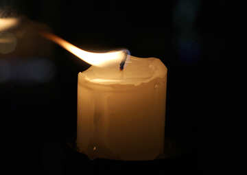 Evening candle №18133