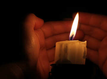 Warm candle №18081