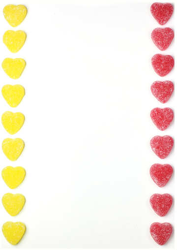 Background strip hearts