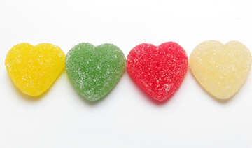 Colorful hearts №18444