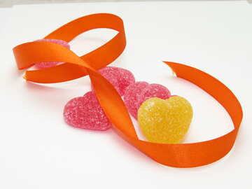 Hearts and Ribbon №18572