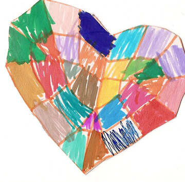 Crystal heart.  Children drawing. №18669