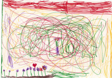 Magic Glade. Children drawing. №18660